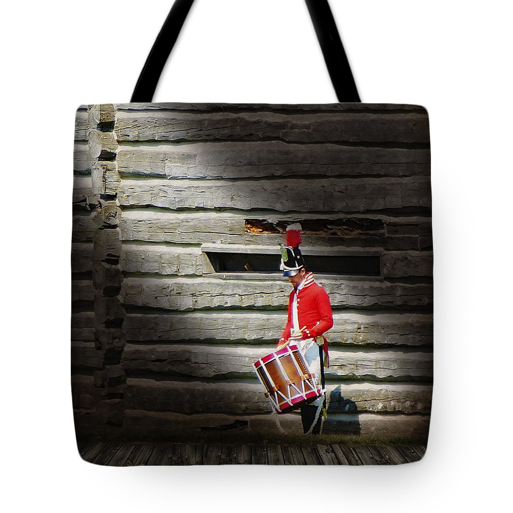 Drum Tote Bag featuring the photograph Drummer by John Anderson