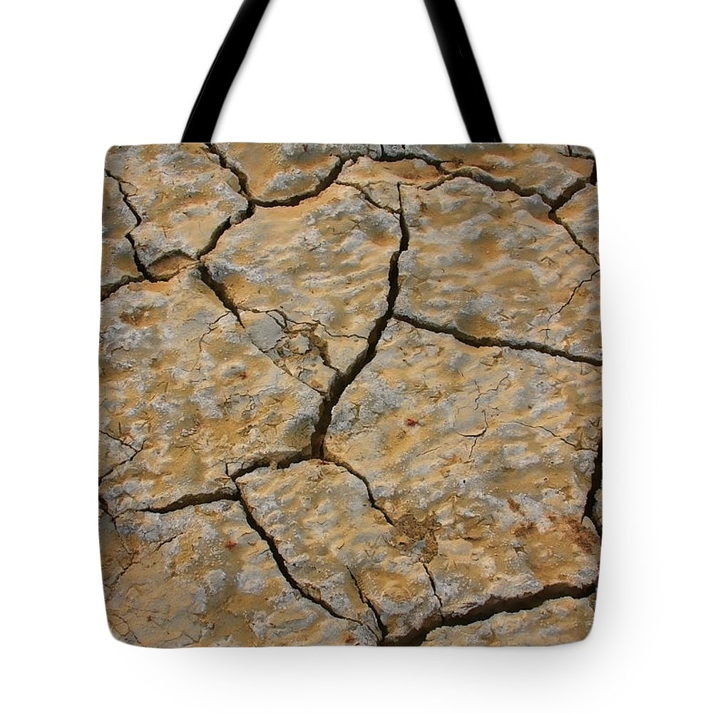 Cracks Tote Bag featuring the photograph Dry Cracked Lake Bed by James BO Insogna