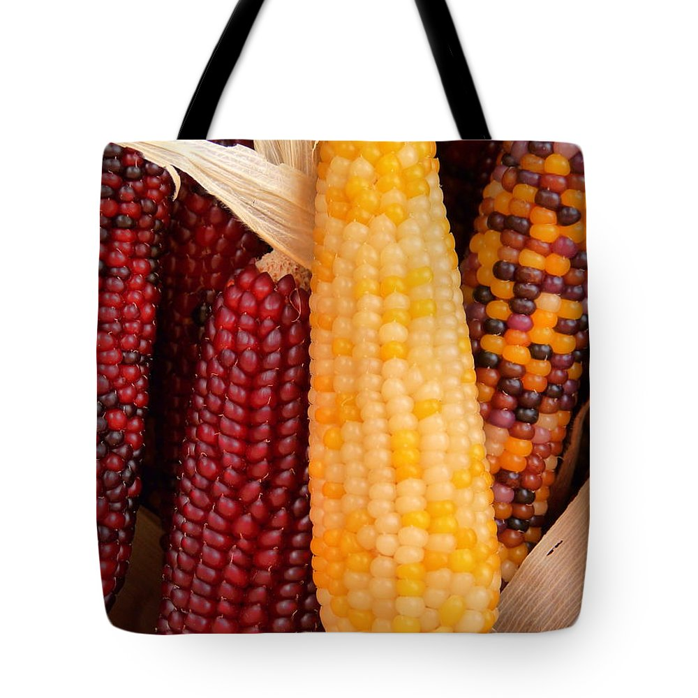 Indian Corn Tote Bag featuring the photograph Dry Indian Corn by Jeff Lowe