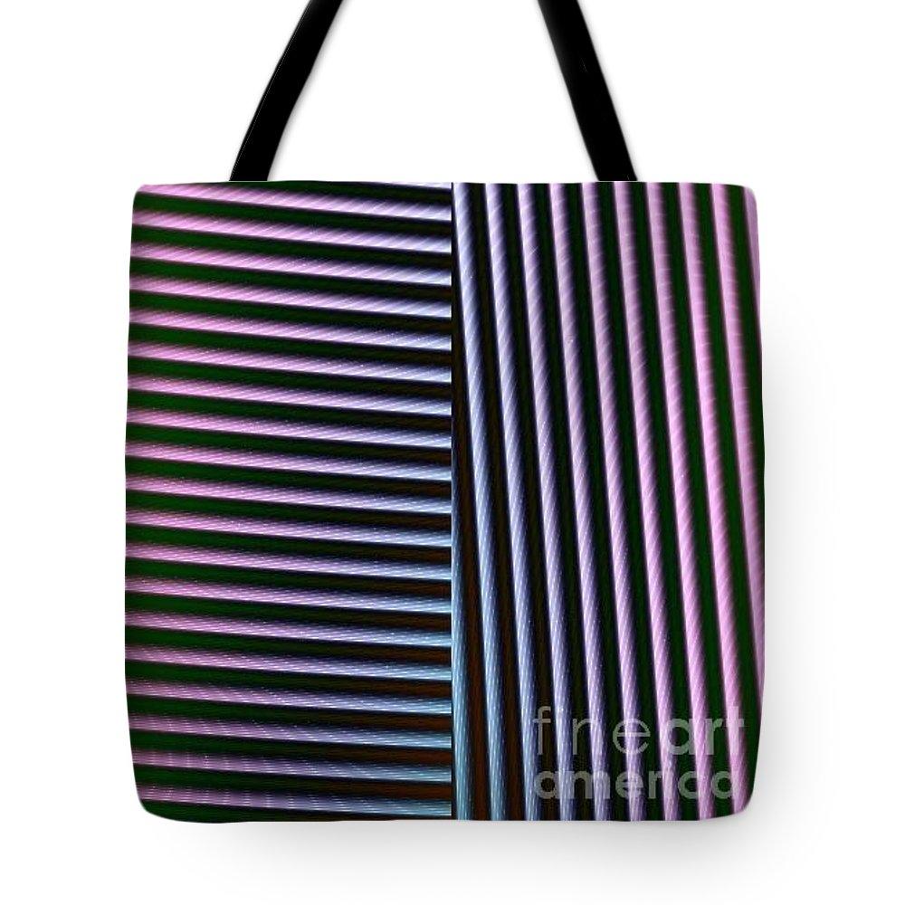 Digital Art Tote Bag featuring the digital art Duality II by Dragica Micki Fortuna