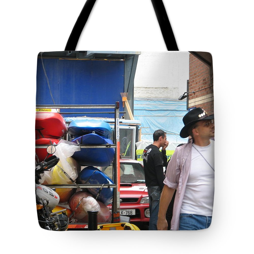 Alley Tote Bag featuring the photograph Dublin Alley by Kelly Mezzapelle