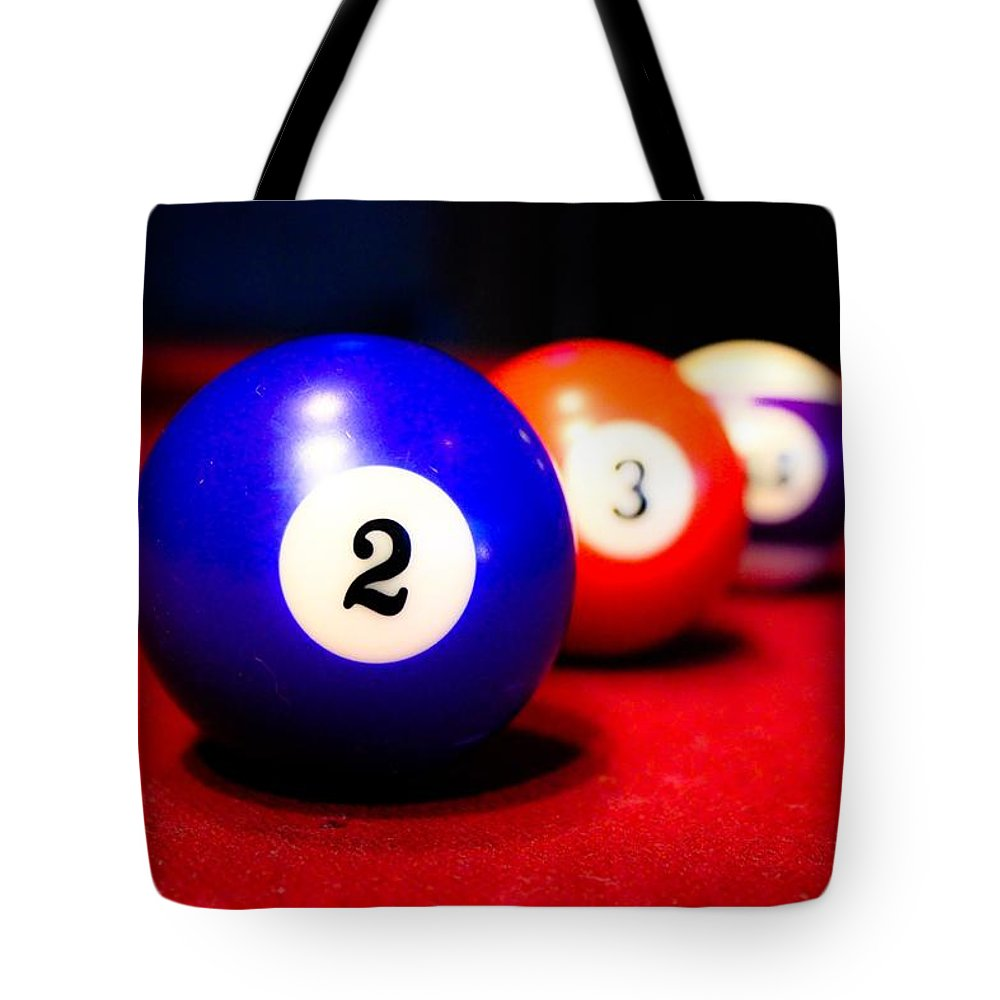 Pool Table Tote Bag featuring the photograph Duces by Purvis Jordan