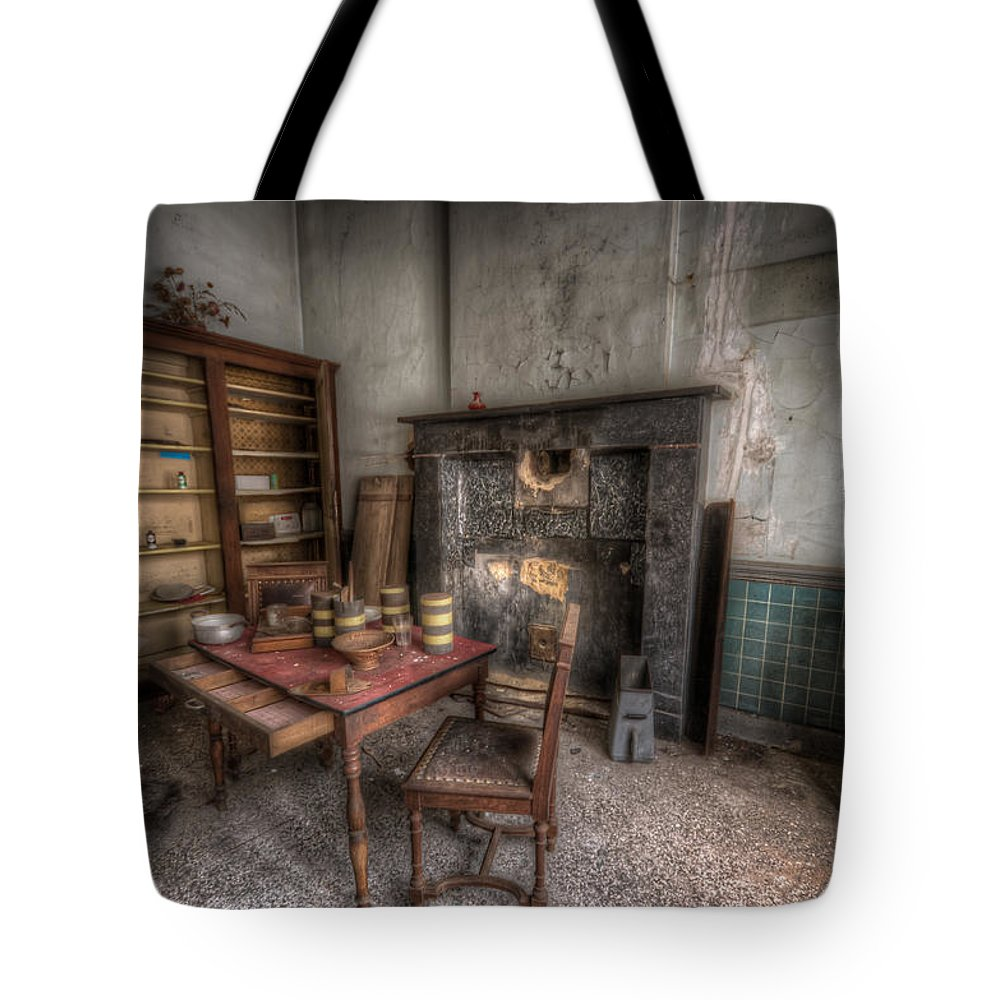 Decay Tote Bag featuring the digital art Duchess Kitchen by Nathan Wright