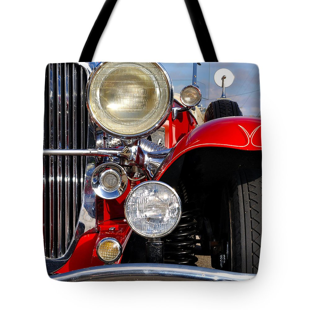 Car Tote Bag featuring the photograph Duesenberg by Tim Nyberg