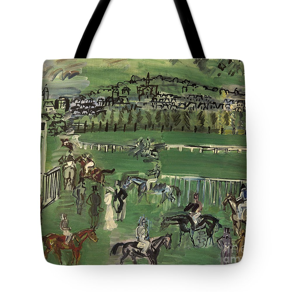 1928 Tote Bag featuring the photograph Dufy: Race Track, 1928 by Granger