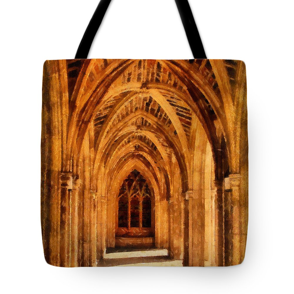 Duke University Tote Bag featuring the photograph Duke Chapel by Betsy Foster Breen