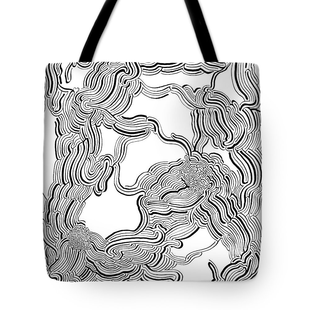 Mazes Tote Bag featuring the drawing Dulcinea by Steven Natanson