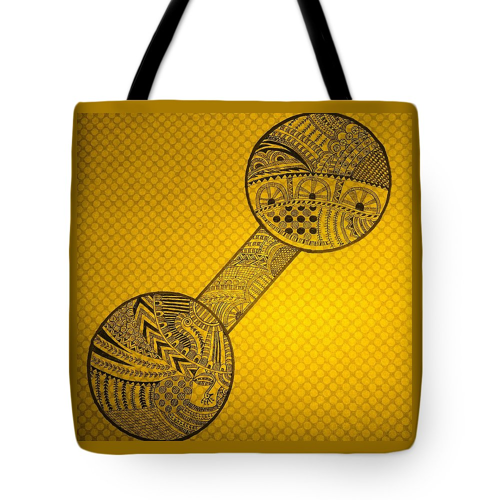 Tote Bag featuring the drawing Dumble Art by Richa Ahuja