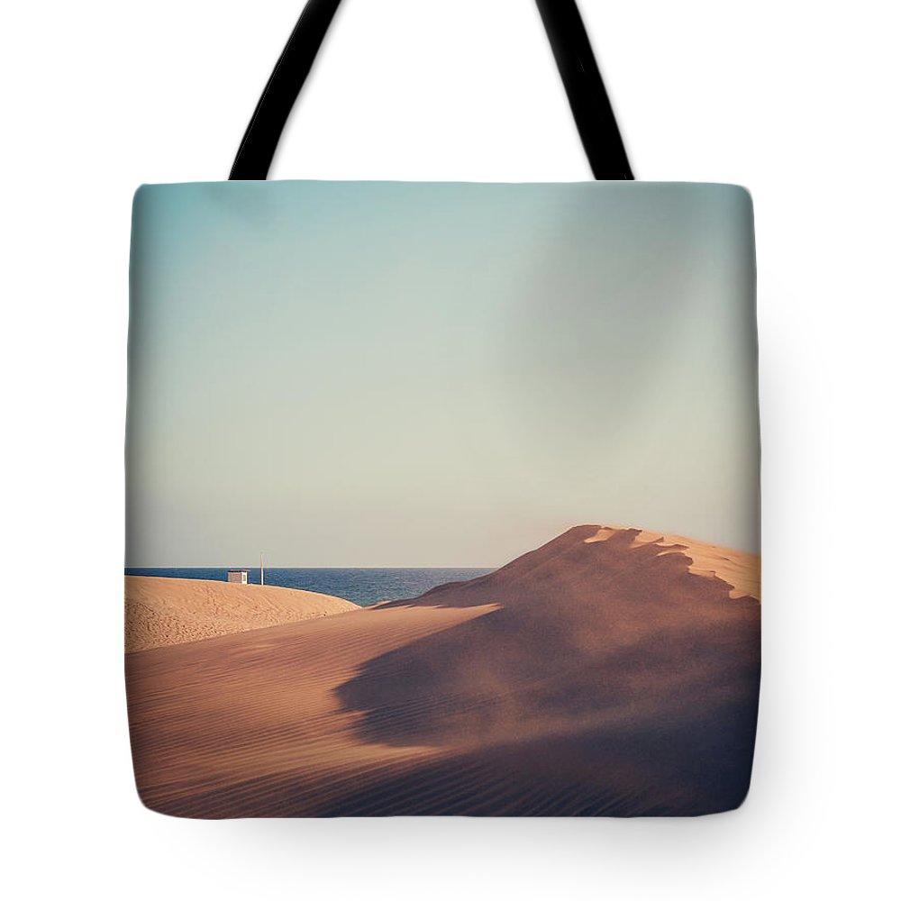Gran Canaria Tote Bag featuring the photograph Dunas De Maspalomas by Alexander Voss