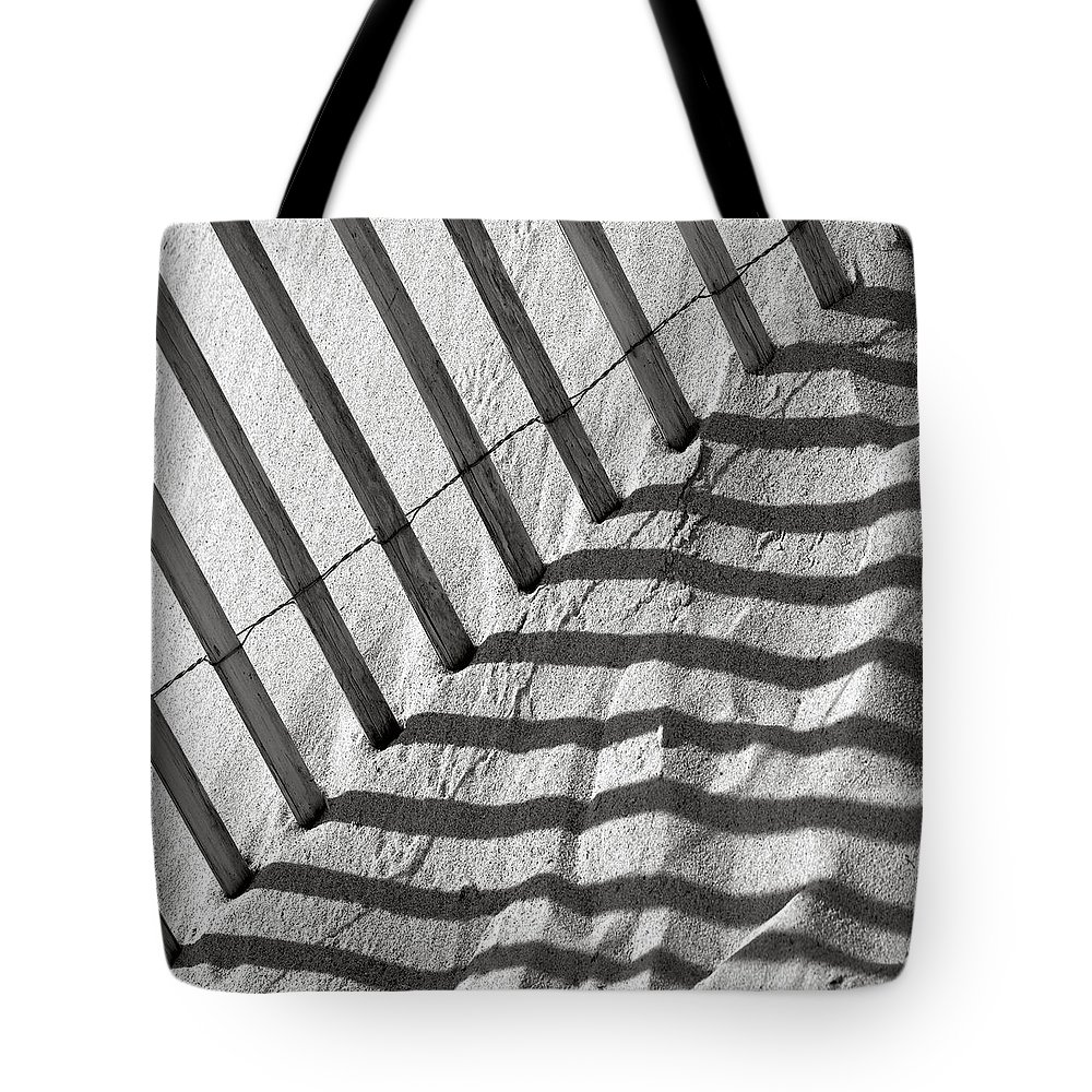 Dune Tote Bag featuring the photograph Dune Fence by Charles Harden