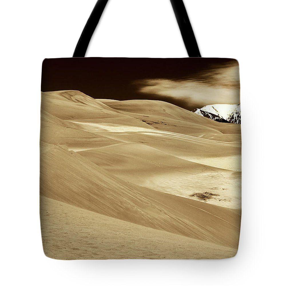 Great Sand Dunes Tote Bag featuring the photograph Dunes And Peak by Kurt Meredith
