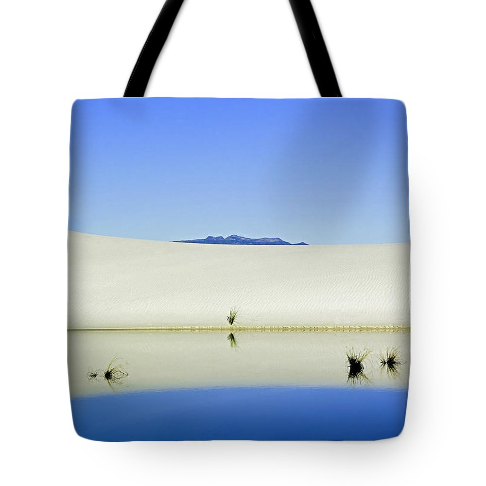 White Sands Tote Bag featuring the photograph Dunes And Reflections Five by Paul Basile