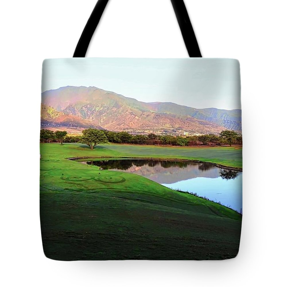 Golf Courses Tote Bag featuring the photograph Dunes At Maui Lani Golf Course by Kirsten Giving