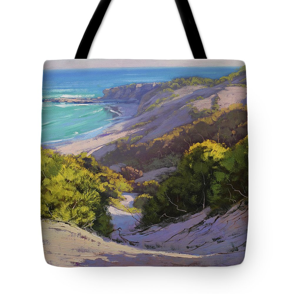 Nature Tote Bag featuring the painting Dunes At Soldiers Beach by Graham Gercken