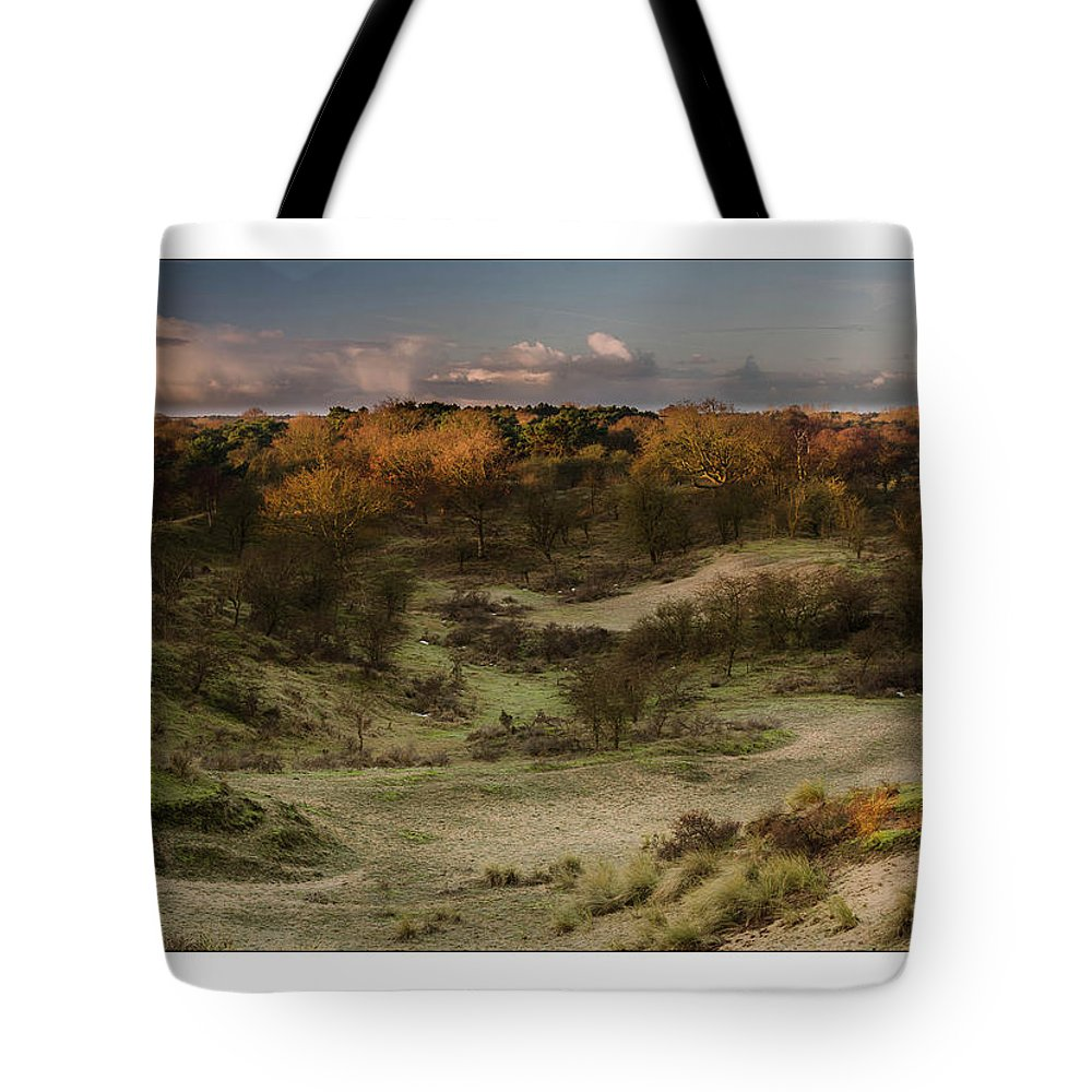 Amsterdamse Waterleiding Duinen Tote Bag featuring the photograph Dunes At Sunrise by Jan De Graaf