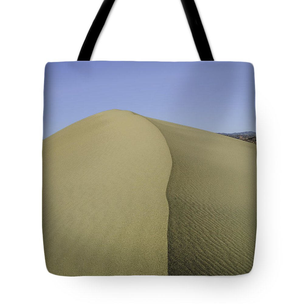Death Valley Tote Bag featuring the photograph Dunes Four by Paul Basile