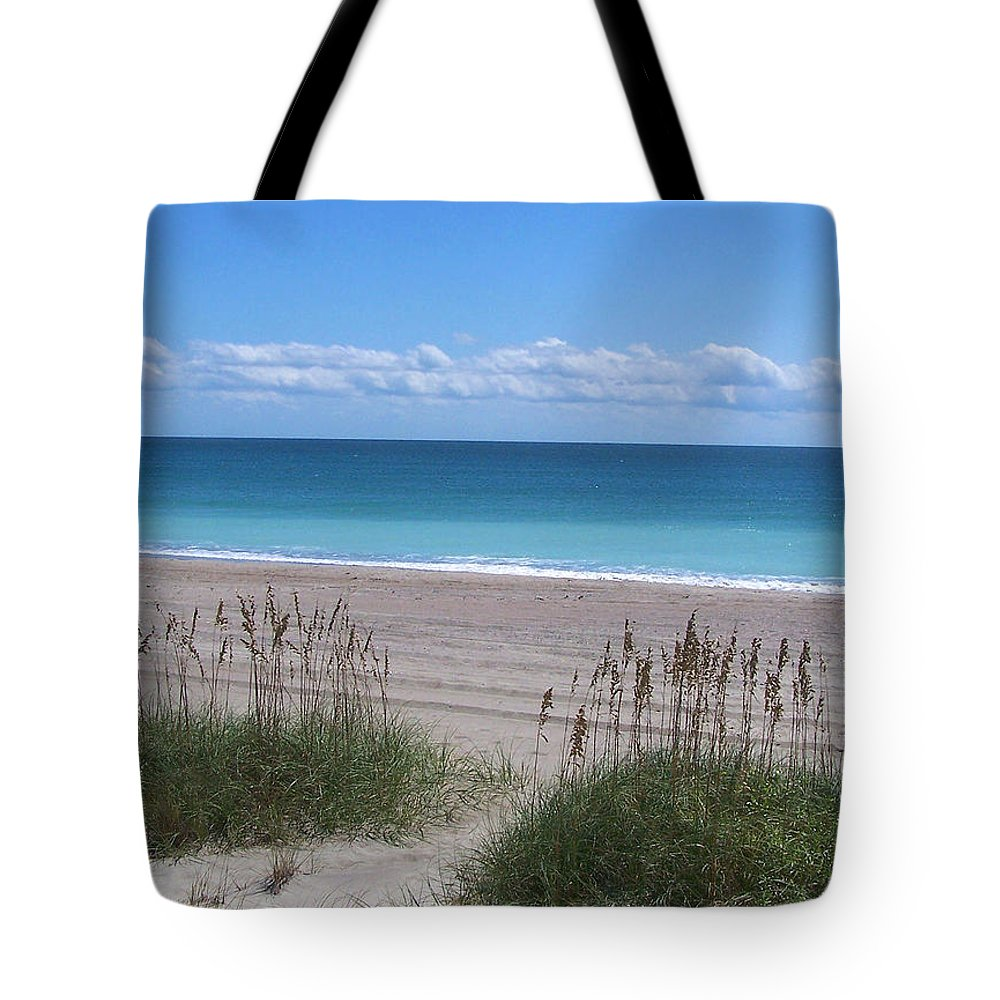 Beach Tote Bag featuring the photograph Dunes On The Outerbanks by Sandi OReilly
