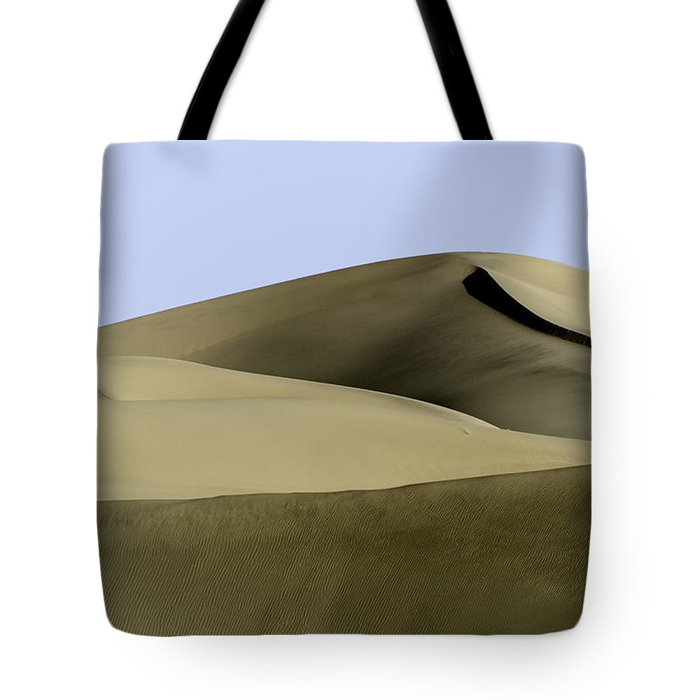 Death Valley Tote Bag featuring the photograph Dunes Two by Paul Basile