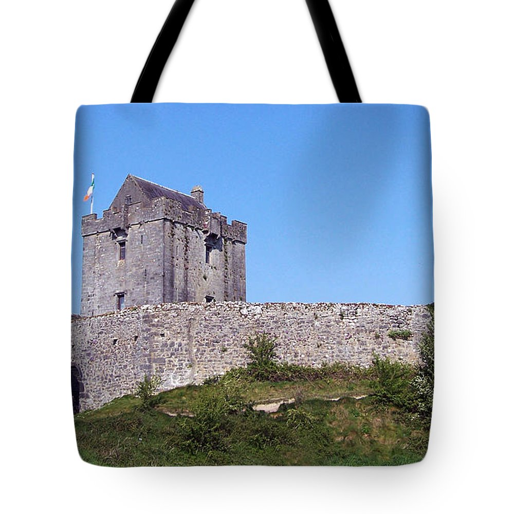Irish Tote Bag featuring the photograph Dunguaire Castle Kinvara Ireland by Teresa Mucha