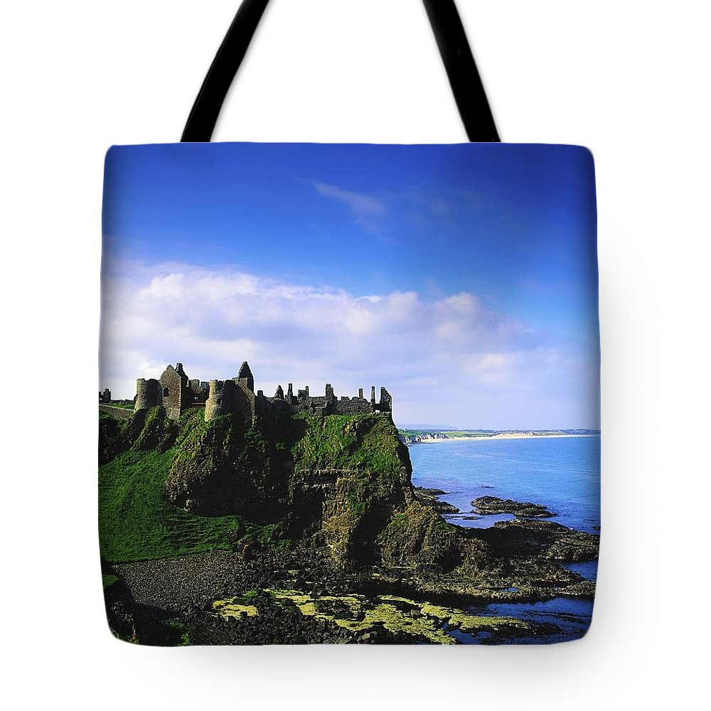 Archeology Tote Bag featuring the photograph Dunluce Castle, Co Antrim, Irish, 13th by The Irish Image Collection