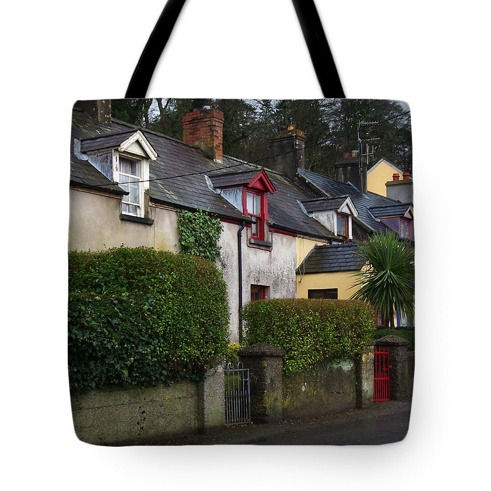Ireland Tote Bag featuring the photograph Dunmore Houses by Tim Nyberg