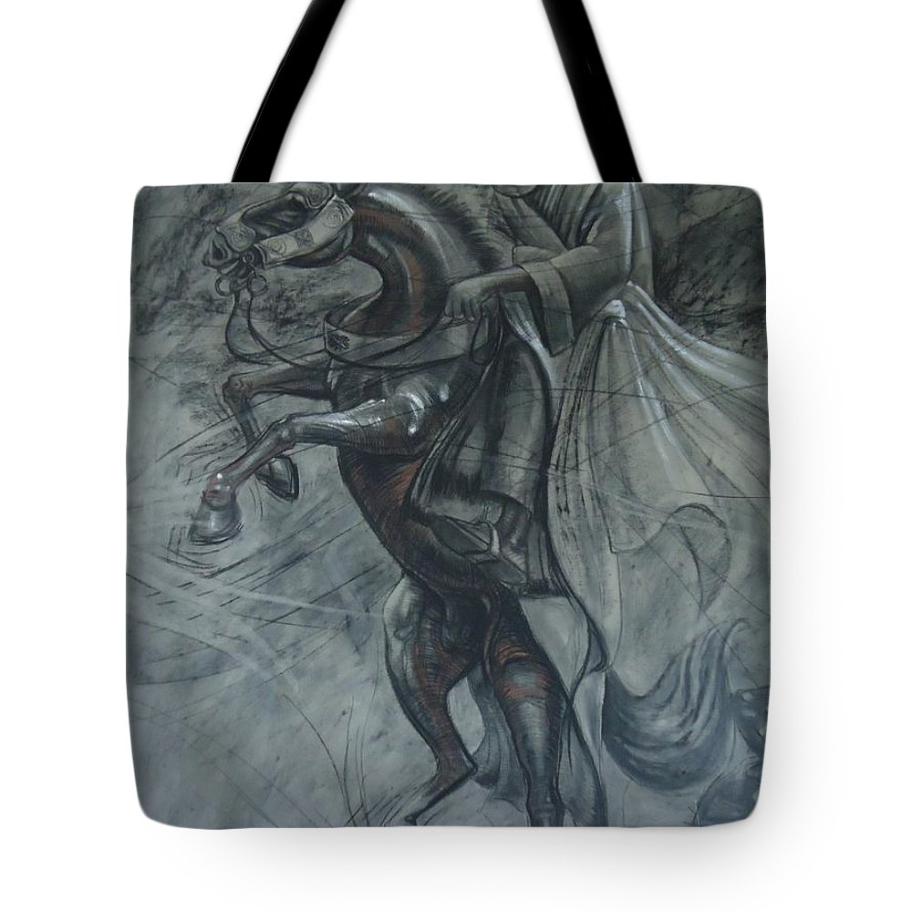 Tote Bag featuring the painting Durbar by Collins Abinoro