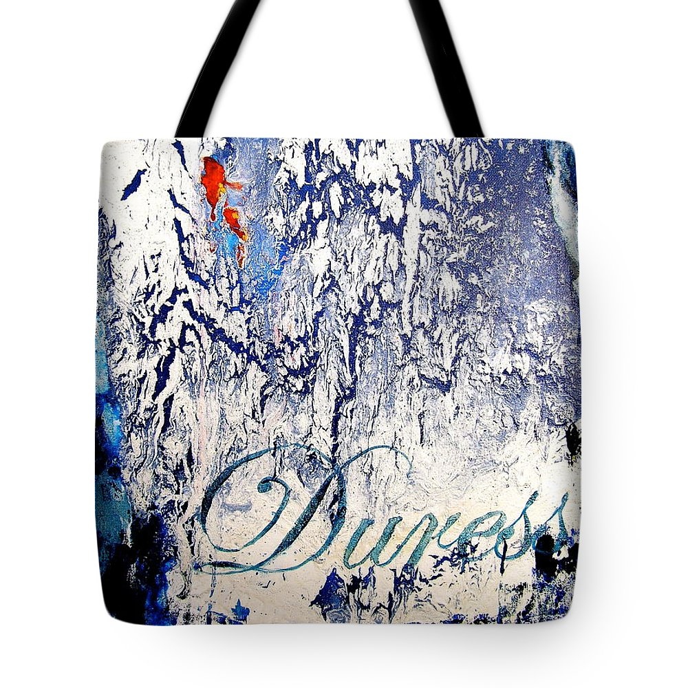 Abstract Art Tote Bag featuring the painting Duress by Laura Pierre-Louis
