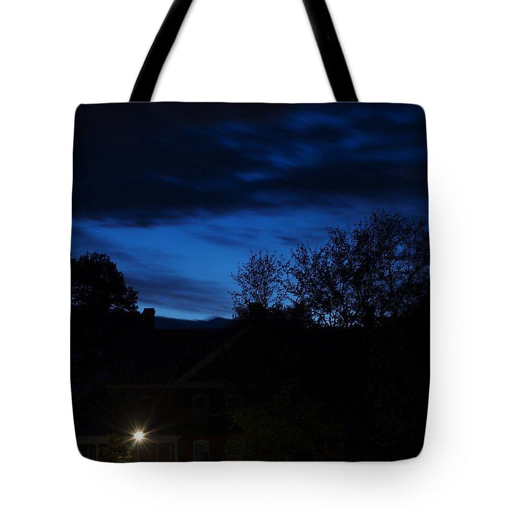 Silhouette Tote Bag featuring the photograph Dusk by Faith Harron Boudreau