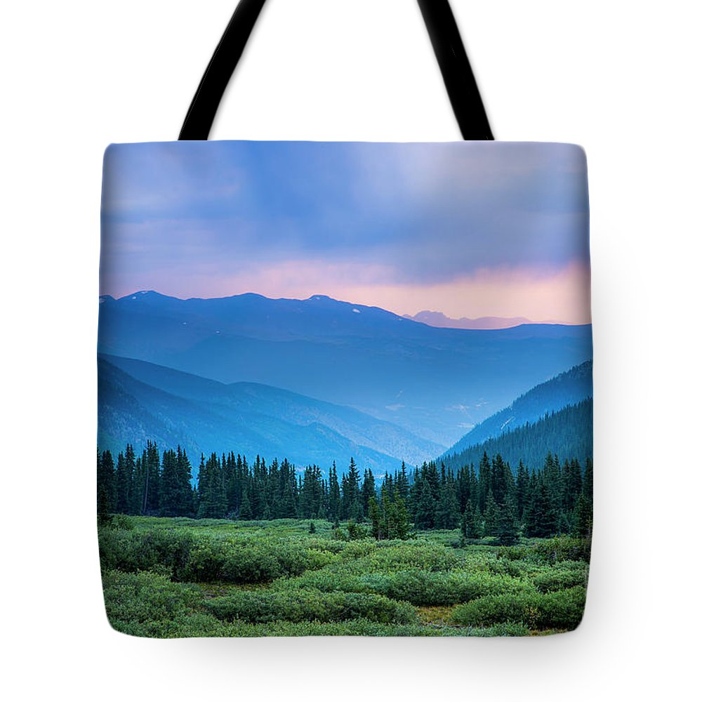 Guanella Pass. Georgetown Tote Bag featuring the photograph Dusk Over Guanella Pass by Twenty Two West Photography