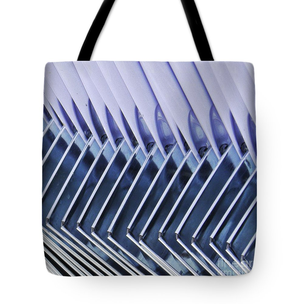 Gray Tote Bag featuring the photograph Dustpans 2 by Sarah Loft