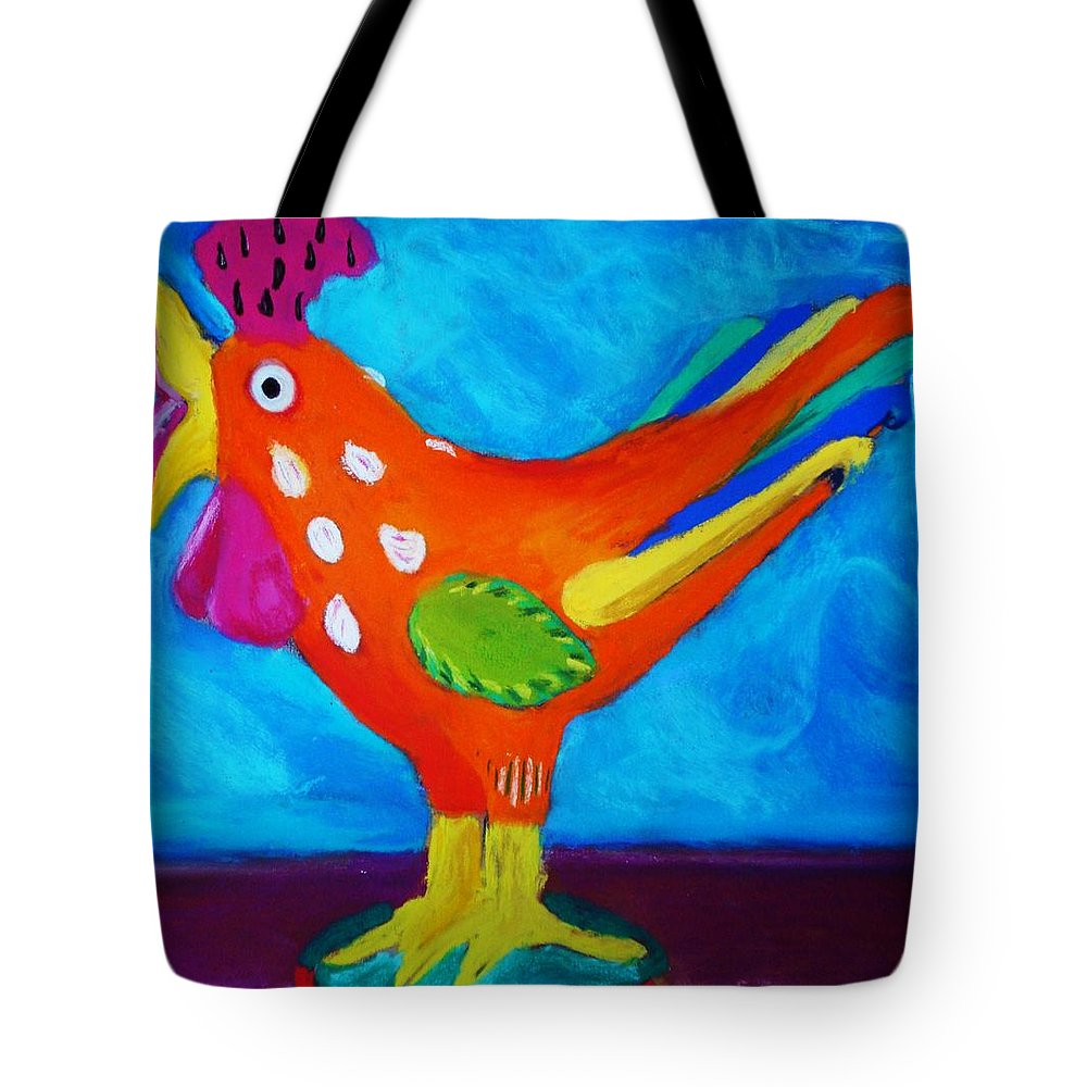 Bird Tote Bag featuring the pastel Dusty's Chick by Melinda Etzold