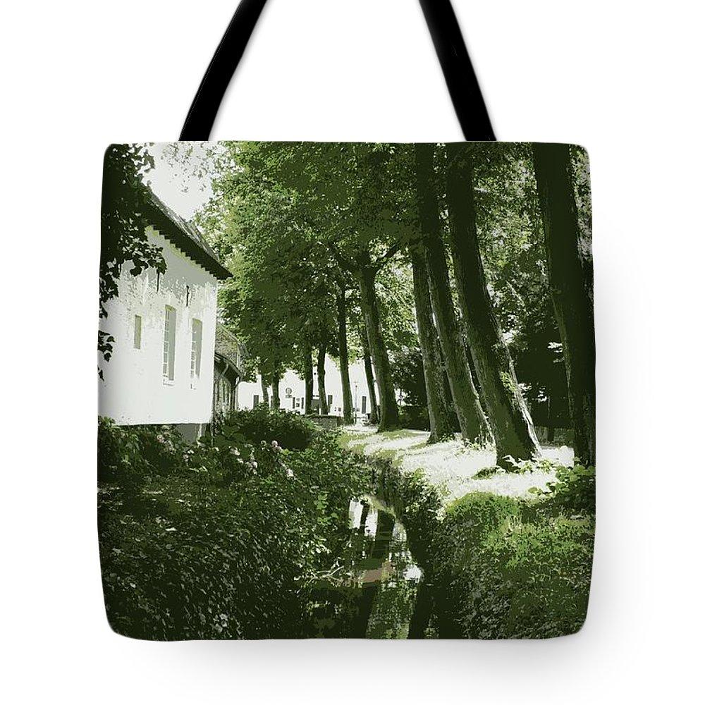 Dutch Tote Bag featuring the photograph Dutch Canal - Digital by Carol Groenen