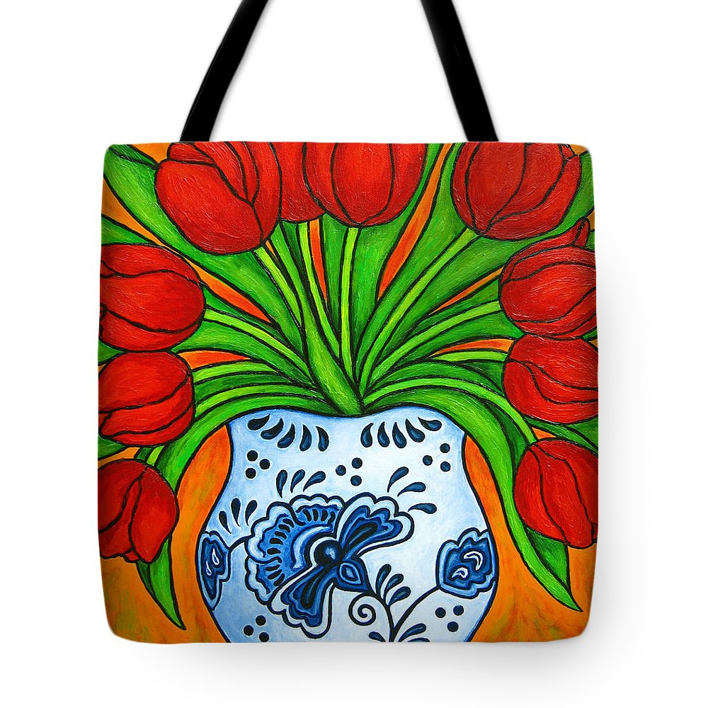 White Tote Bag featuring the painting Dutch Delight by Lisa Lorenz