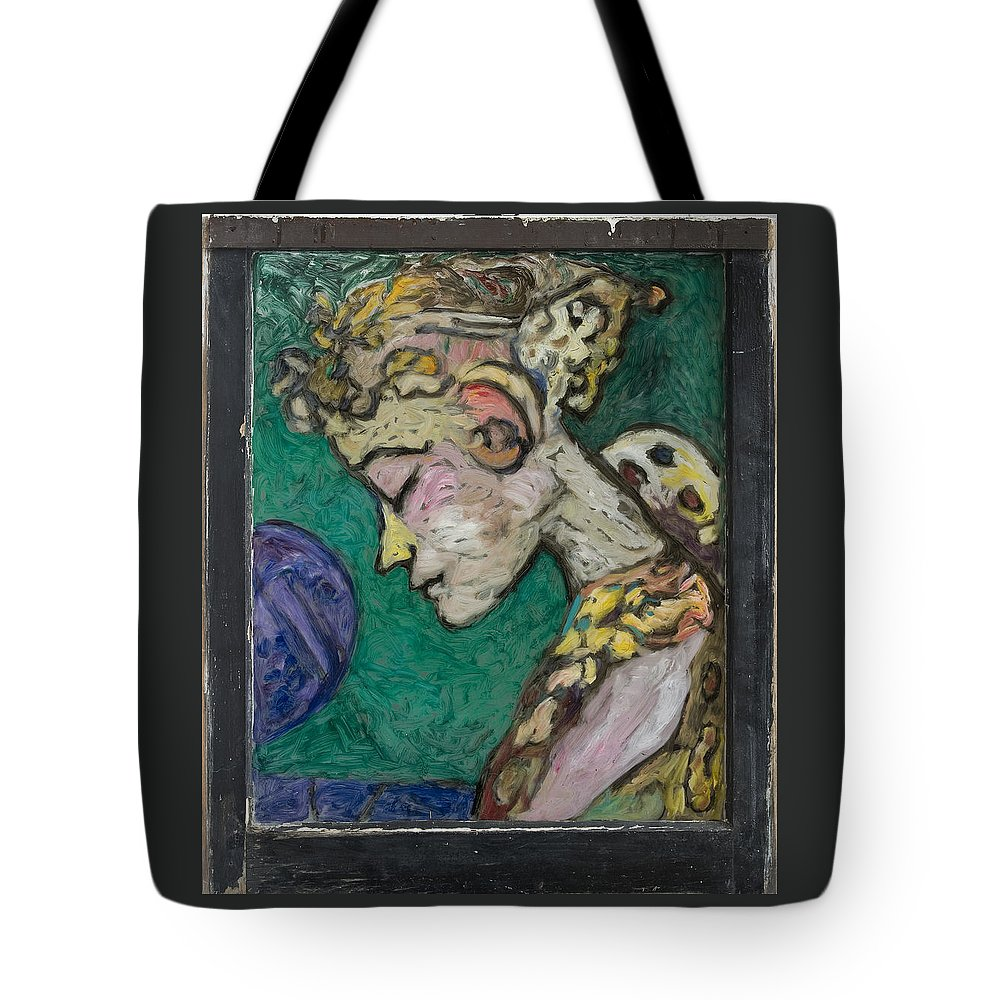 Mythic Tote Bag featuring the painting Dyana by Mykul Anjelo