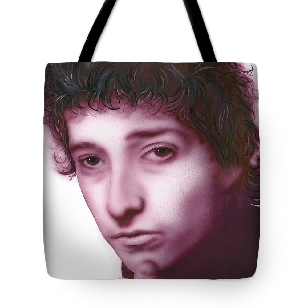 Bob Dylan Tote Bag featuring the painting Dylan by Randy Flook