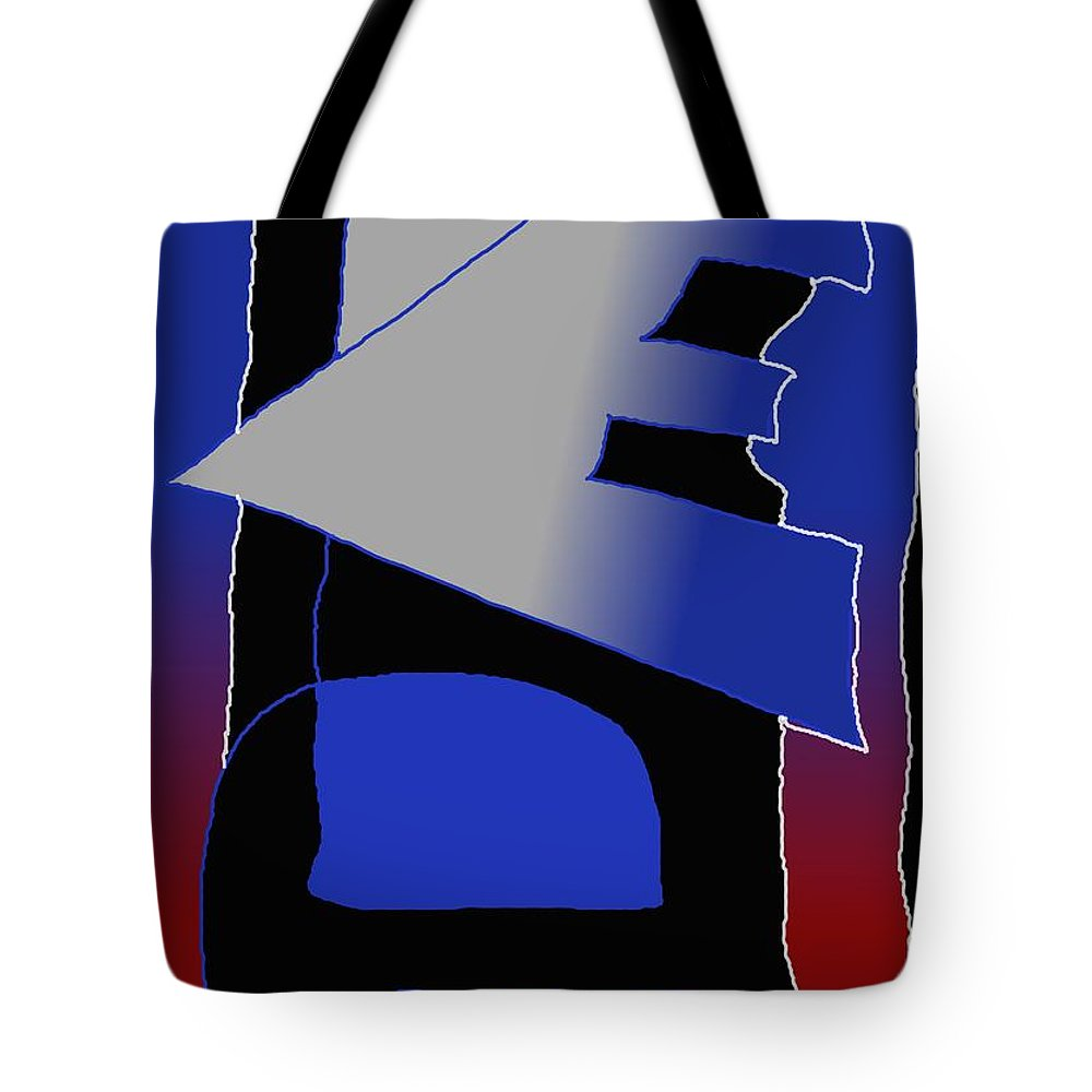 Eu Tote Bag featuring the digital art E-likes-eu by Helmut Rottler
