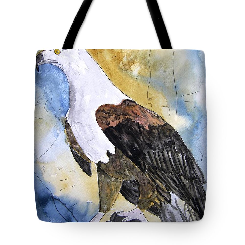 Realistic Tote Bag featuring the painting Eagle by Derek Mccrea