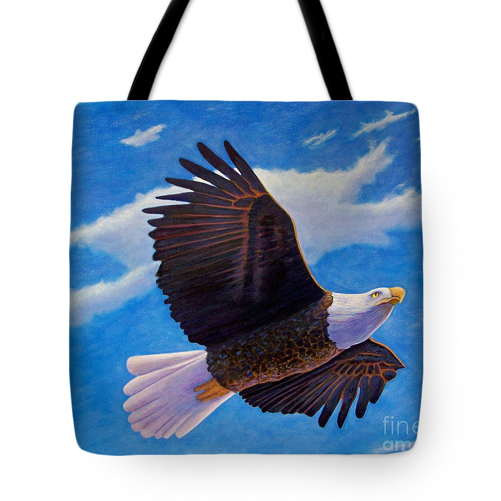 Eagle Tote Bag featuring the painting Eagle Heart II by Brian Commerford