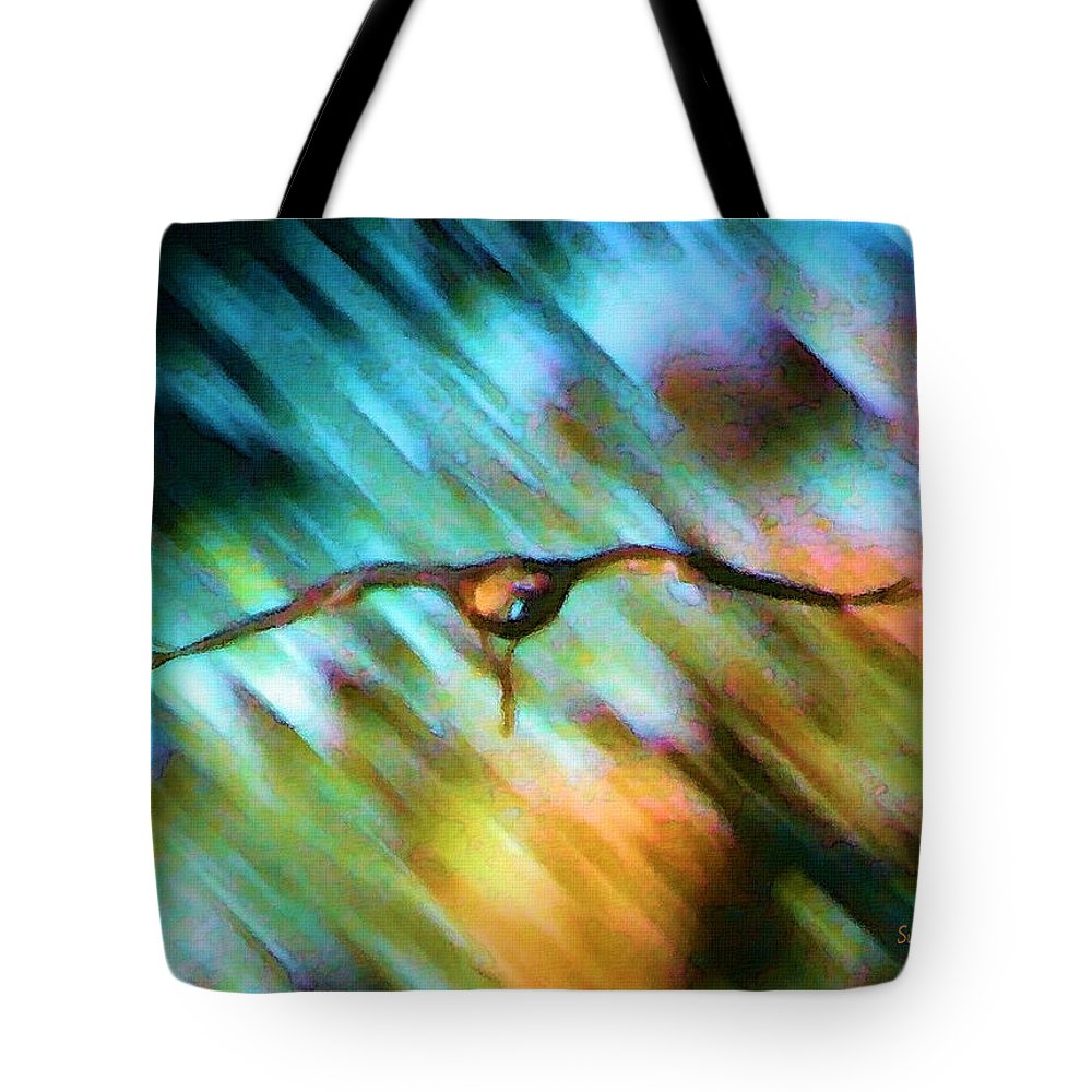 Eagle Tote Bag featuring the painting Eagle In Flight by Susanna Katherine