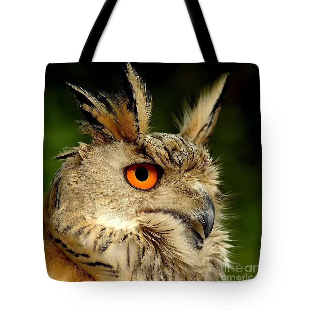 Wildlife Tote Bag featuring the photograph Eagle Owl by Jacky Gerritsen