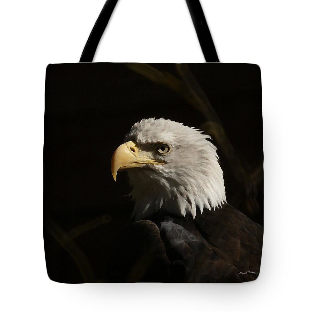 Animal Tote Bag featuring the photograph Eagle Profile 2 by Ernie Echols