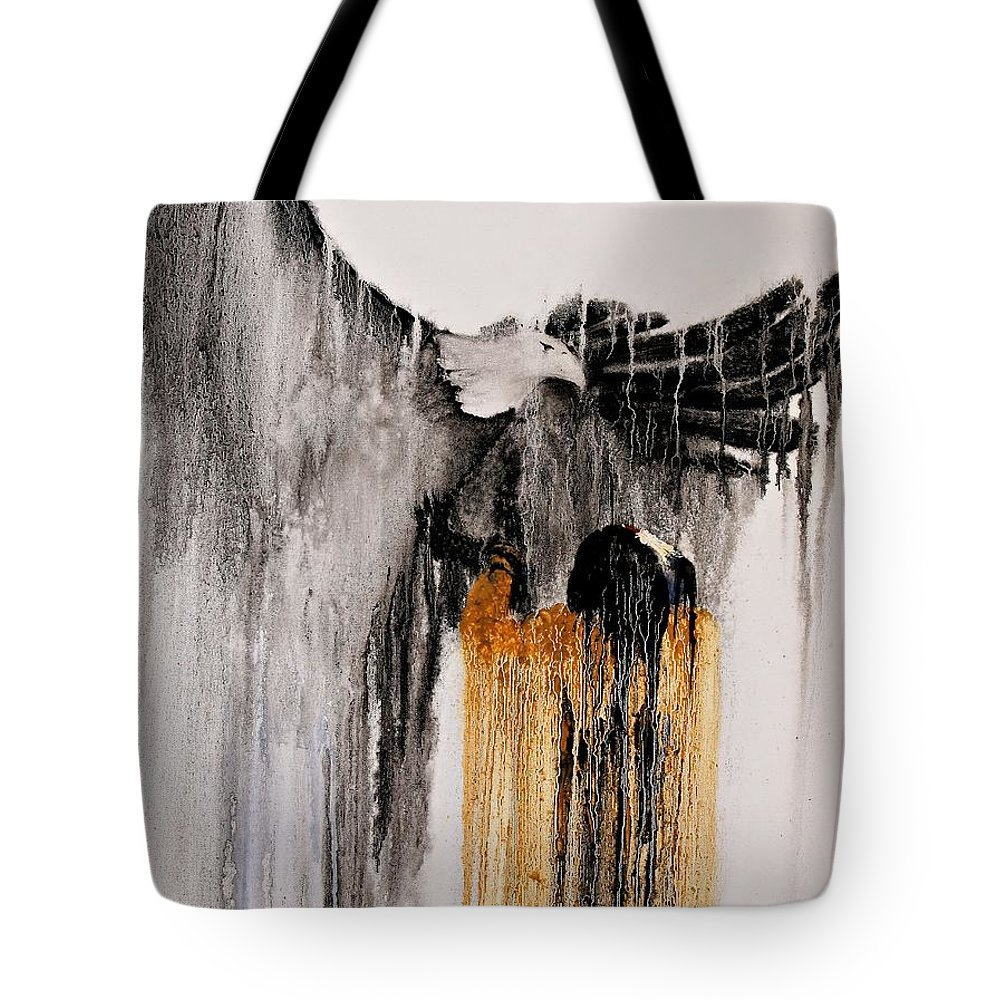 Natives Tote Bag featuring the painting Eagle Spirit by Patrick Trotter