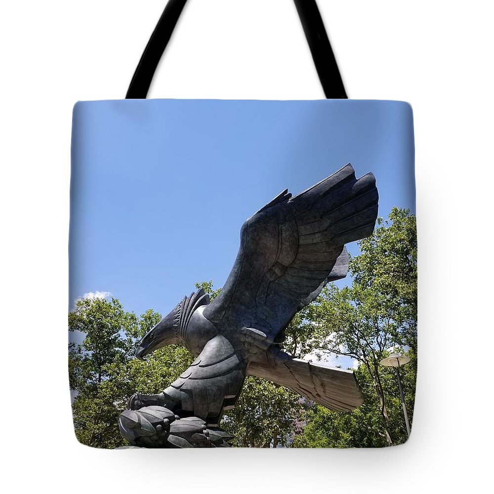 Abstract Art Tote Bag featuring the photograph Eagle Statue by Rob Hans