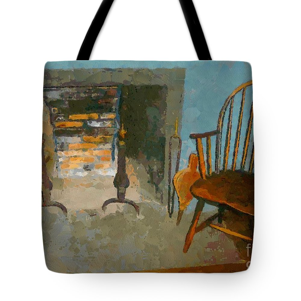 Americana Tote Bag featuring the painting Early American Contemporary by RC DeWinter