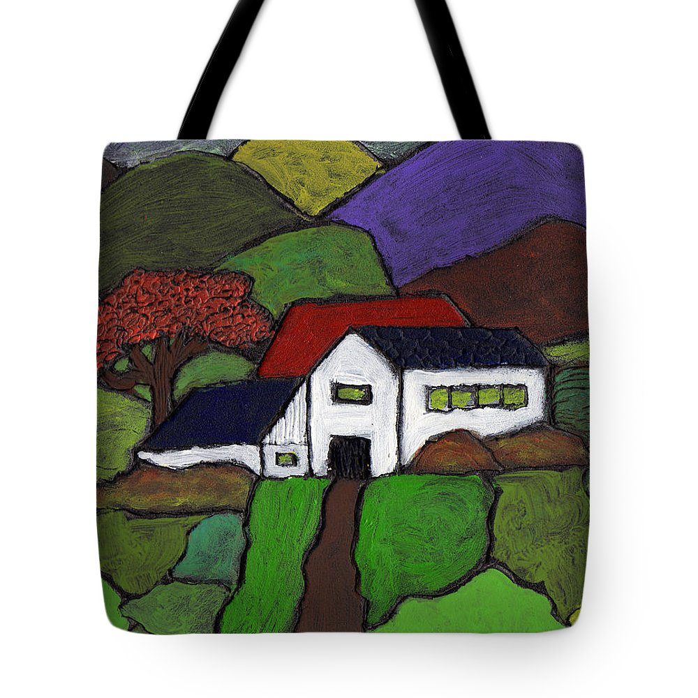 Farm Tote Bag featuring the painting Early Autumn by Wayne Potrafka
