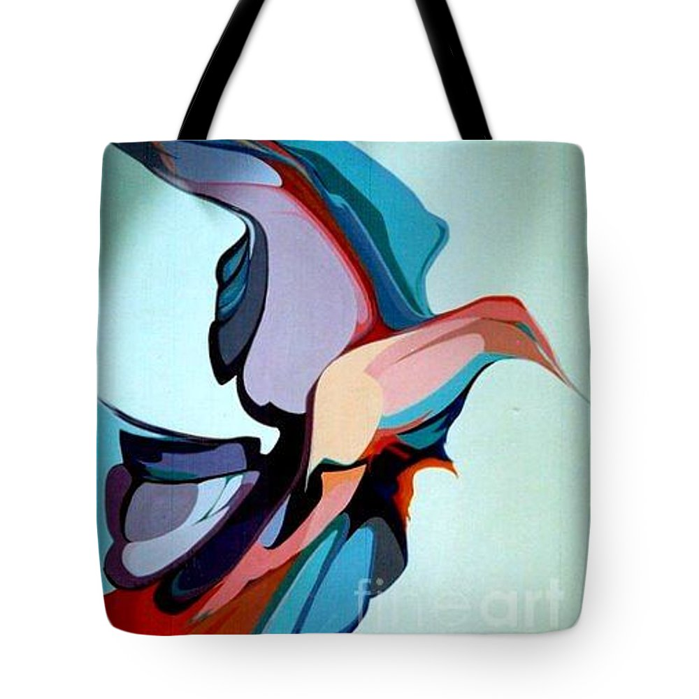 Birds Tote Bag featuring the painting Early Bird 10 by Marlene Burns