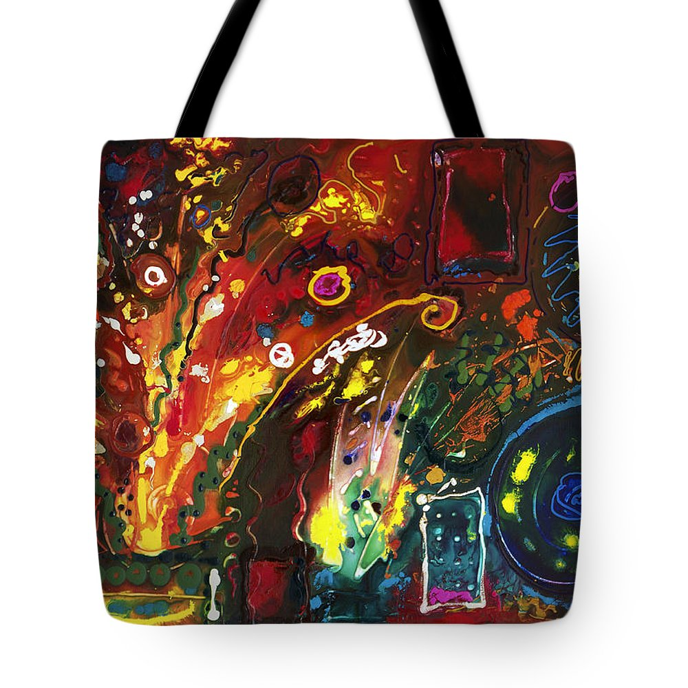 Floral Tote Bag featuring the painting Early Bouquet by Sally Trace