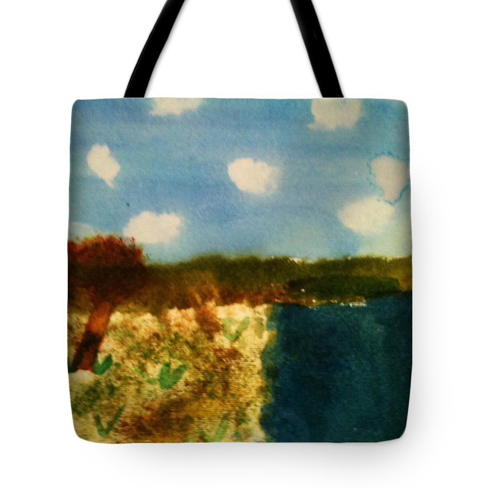Tote Bag featuring the painting Early Landscape by Mollie Schenck