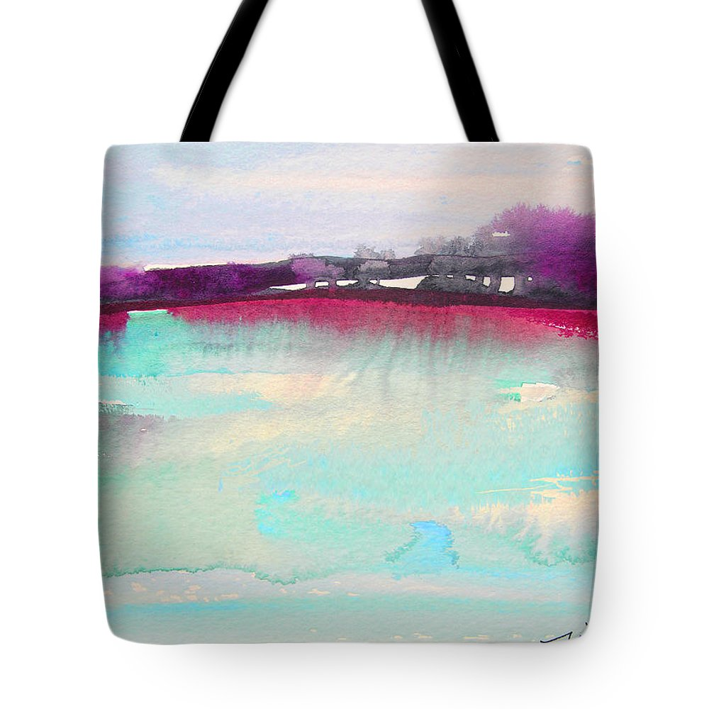 Watercolour Tote Bag featuring the painting Early Morning 07 by Miki De Goodaboom