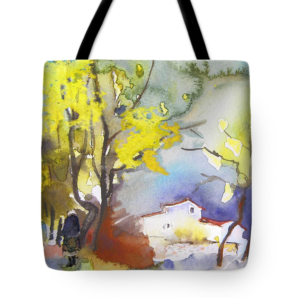 Watercolour Tote Bag featuring the painting Early Morning 09 by Miki De Goodaboom